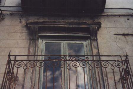 Particolare cornicione del balcone