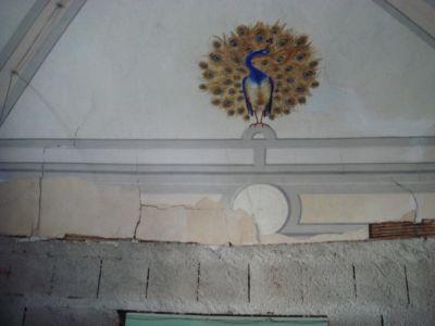 motivo decorativo con pavone
