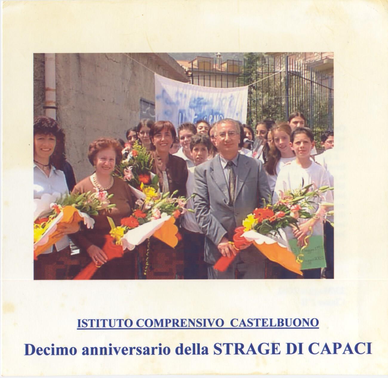 Decimo anniversario della strage di Capaci alla scuola Media