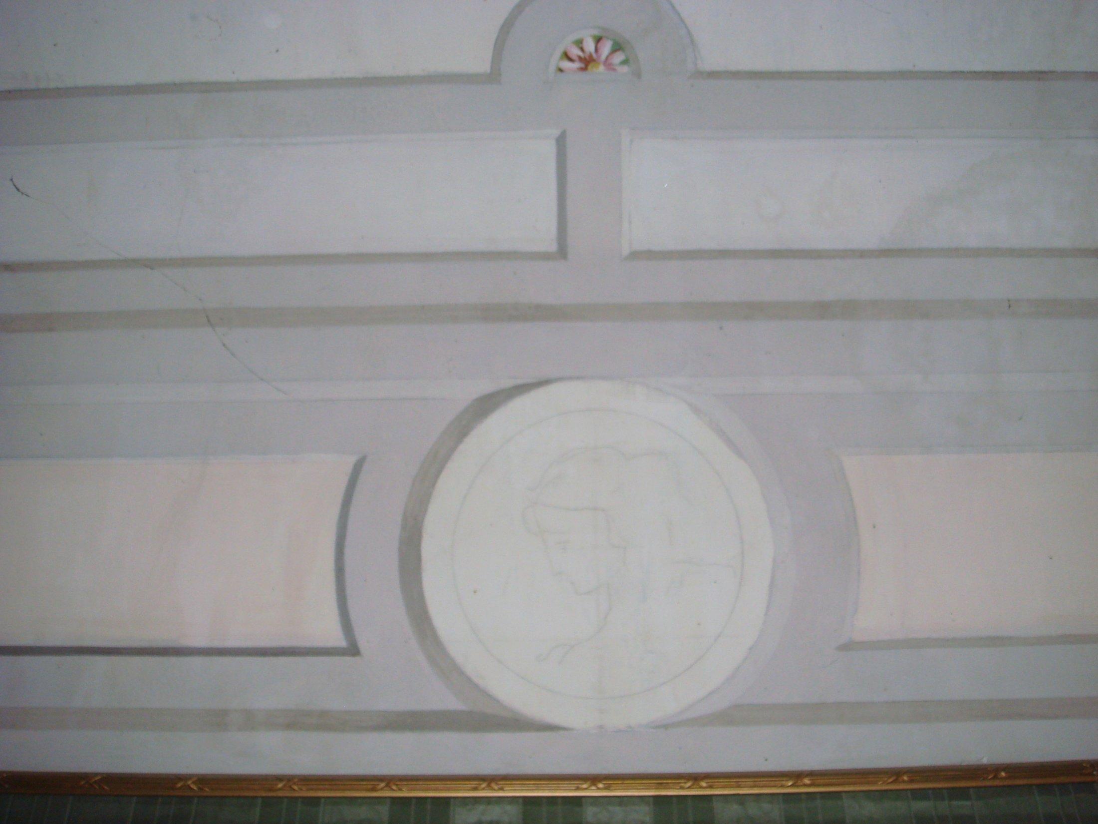 Decorazione angolo del soffito