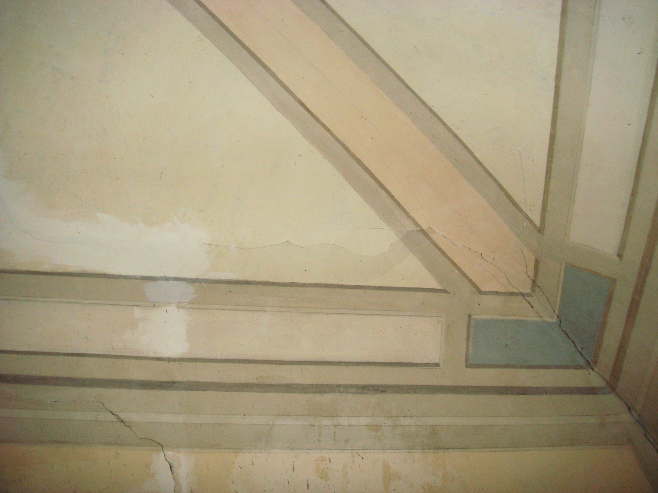 Particolare angolo del soffitto