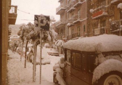 La via Sant'Anna nel'inverno dell'81