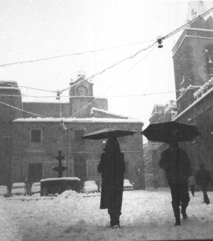 Piazza Margherita nell'inverno dell'81