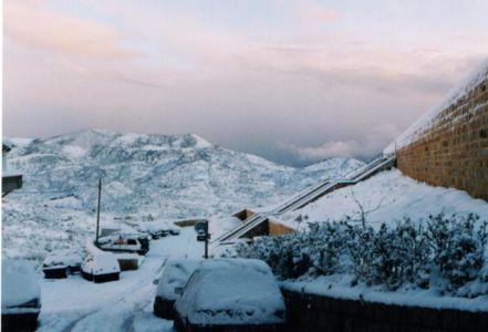 """La parte Nord del """"Salvatore"""" dopo la nevicata del 99"""