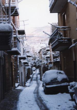 Via Alduino Ventimiglia innevata