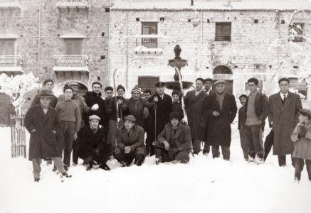Piazza Margherita dopo la nevicata del 1962