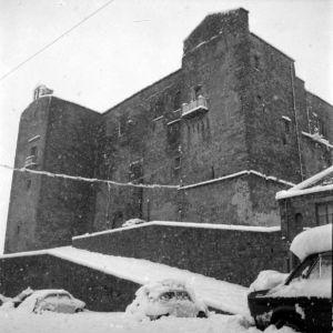 Il castello dopo la nevicata del '62