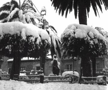 Piazza Parrcchia sotto la neve del '62
