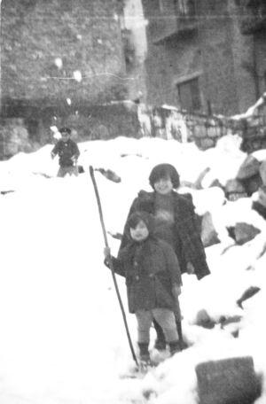 Via D. Alighieri dopo a nevicata del '61