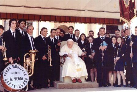 Udienza ed esibizione della Banda a Roma