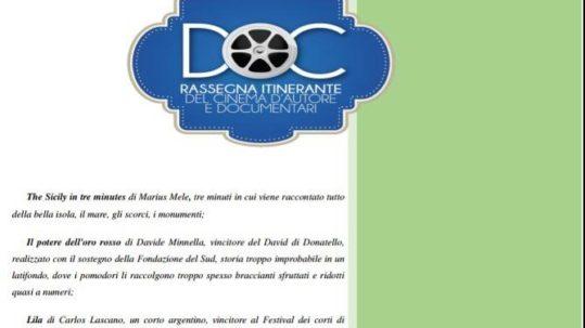 RASSEGNA ITINERANTE DEL CINEMA D'AUTORE